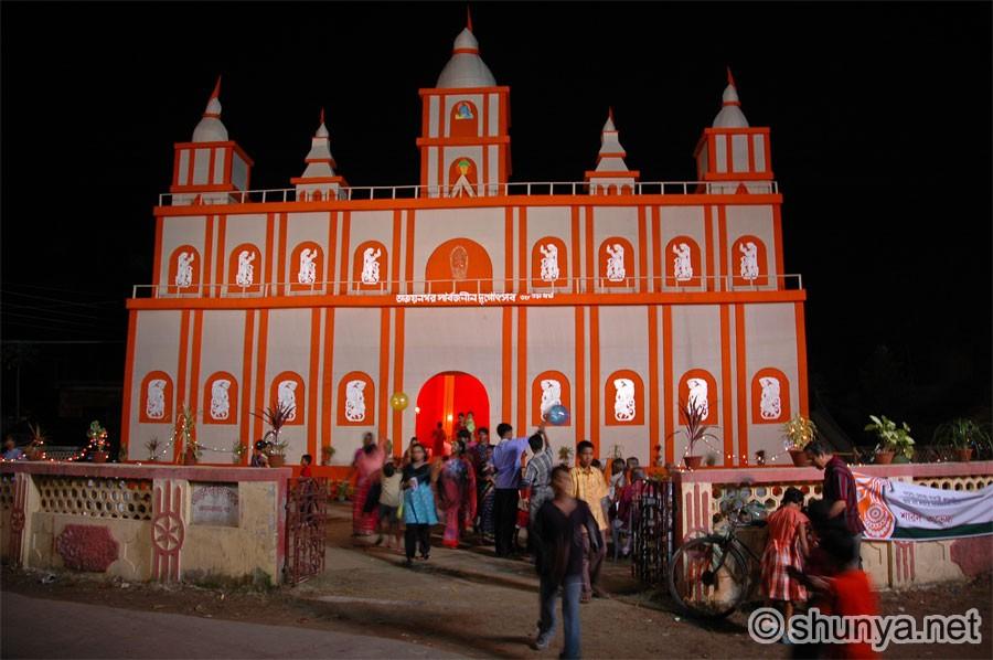 Durga pooja kolkata india shunya puja lights thecheapjerseys Choice Image