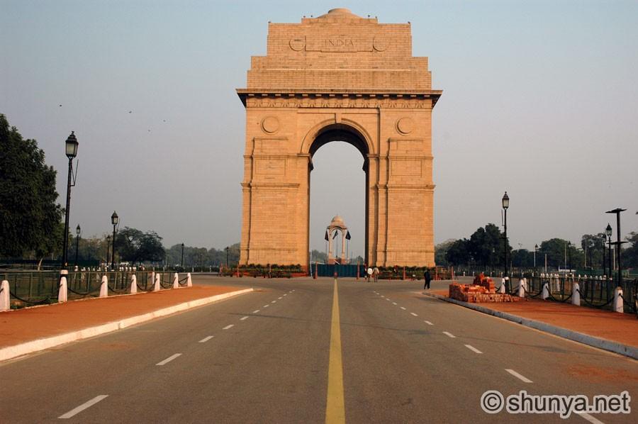 Rajpath India Gate Parliament House Delhi India Shunya