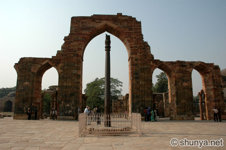Qutub Minar Iron Pillar Inscriptions a much older Iron Pillar