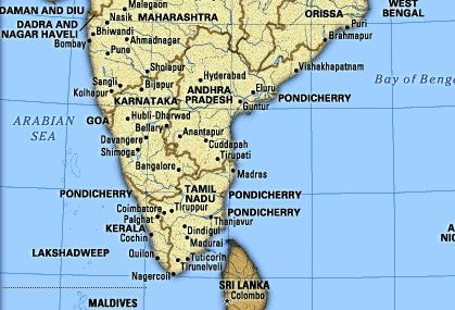 South India Map Images Photos of South India